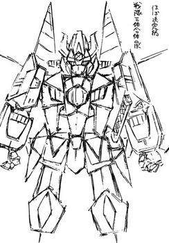 戦隊合体ロボットラフ線画.jpg